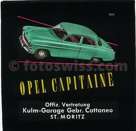 Opel Kapitaen 1957 Collection of Glass Slides for Cinema Advertising by Kulm Garage