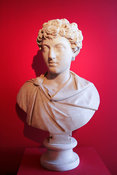 "Marble bust of Marcus Aurelius as a youth. ""Portraits. The Many Faces of Power"" Exhibition"