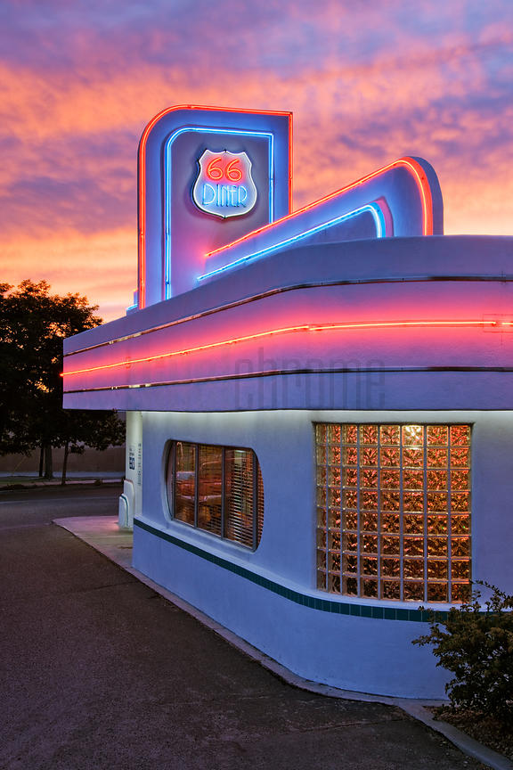 Route 66 Cafe at Dusk