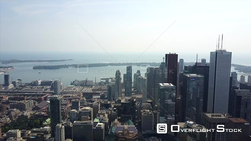 Drone Video Downtown and Waterfornt Toronto Ontario Canada