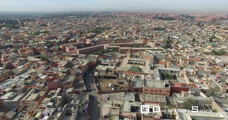 Marrakesh Morocco Drone Footage