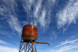 Water tower of disused railway station, Comanche, La Paz Department, Bolivia