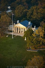 Aerial photograph of the Lee House in Arlington National Cemetery