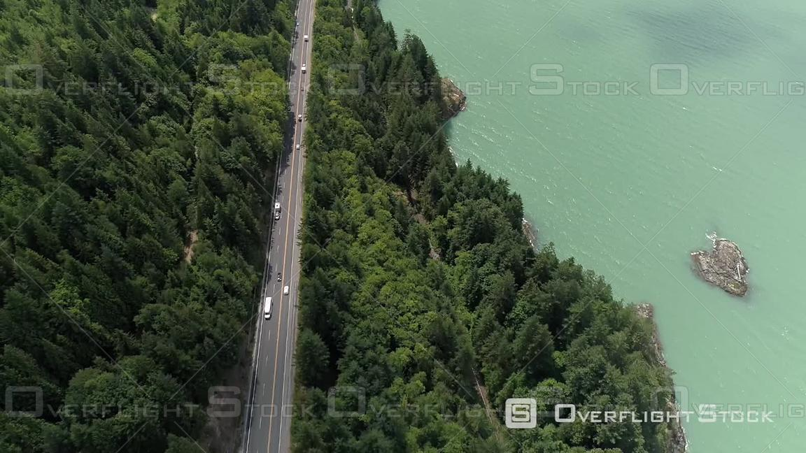 Sea to Sky Highway and Howe Sound BC Canada