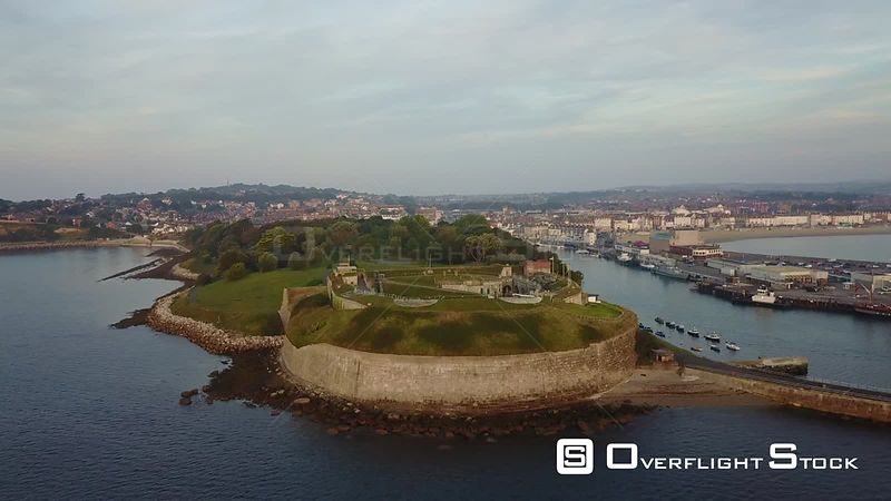 Northe Fort Weymouth Dorset Drone Video Southern England
