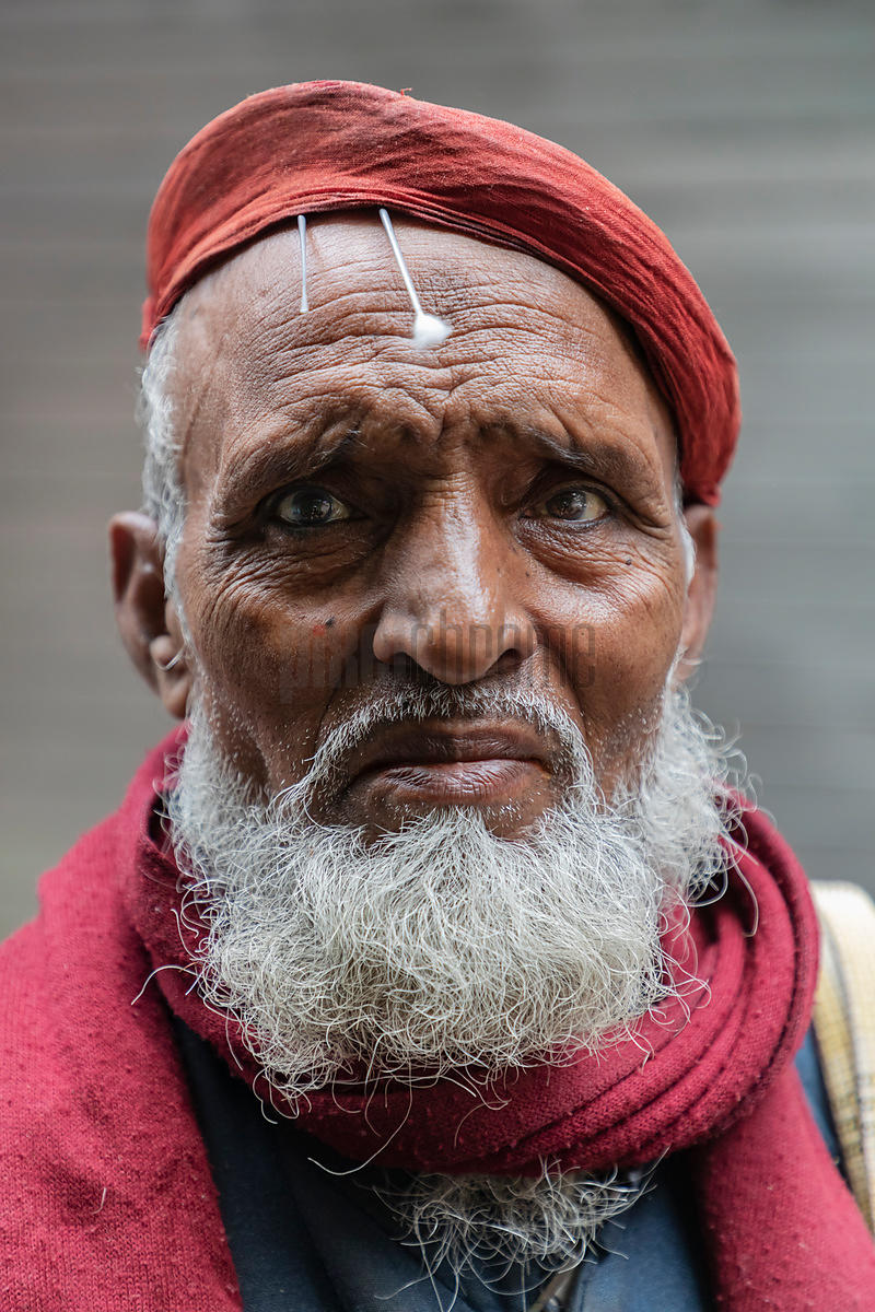 Portrait of the Ear Wax Remover at the Gadodia Spice Market in Old Delhi