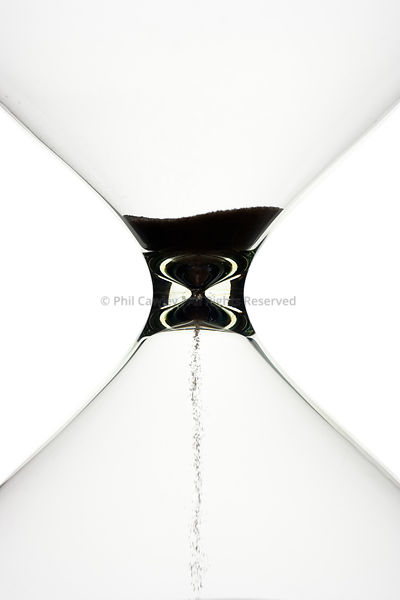 Silhouette of hourglass timer