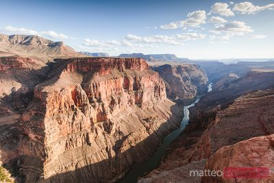Sunset over Colorado river, Grand Canyon, USA