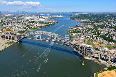 Bayonne Bridge From New York to New Jersey