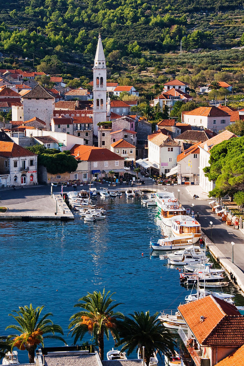 The Town of Jelsa, Hvar Island, Croatia