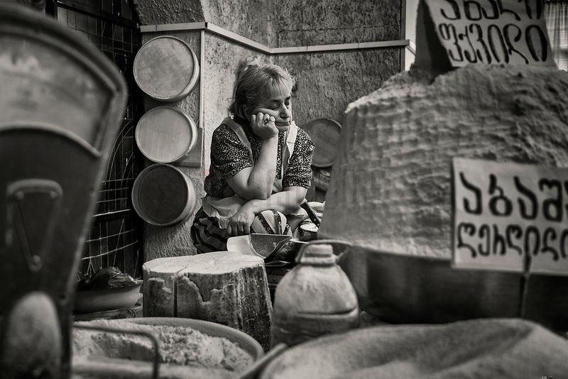 Portrait of a Sleeping Vendor at the Deserter's Bazaar