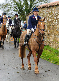 Leaving the meet - The Cottesmore Hunt at Tilton on the Hill, 9-11-13