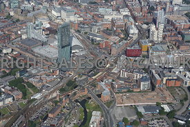 Great Jackson Street and Deansgate Railway station area of south Manchester Gateway
