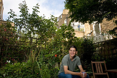 UK - London - David Miliband in his garden at home