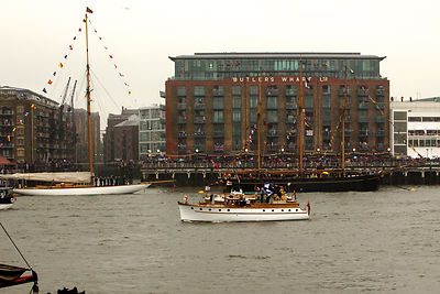 Dunkirk Little Ship Passing by Butlers Wharf