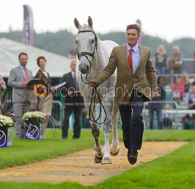 Andrew Nicholson and AVEBURY - The first vets inspection (trot up),  Land Rover Burghley Horse Trials, 3rd September 2014.