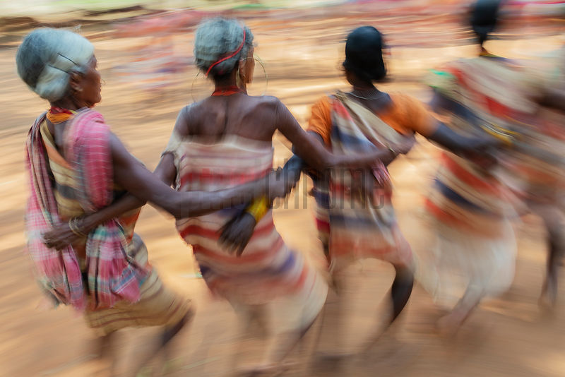 Women of the Gadaba Tribe Perform a Traditional Dance at Kangarapad Village