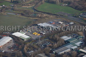 Skelmersdale aerial  view of the Rodco Works and the Stanley Industrial Estate