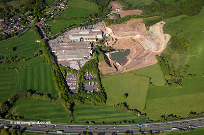 Marley Eternit Ltd Keele Works, Ridge Hill Dr, Madeley Heath, Crewe  from the air