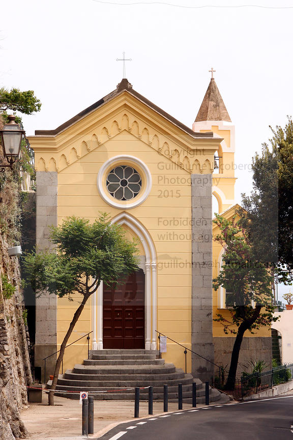 Italian yellow church