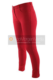 Stock image - Red equestrian breeches and jodhpurs