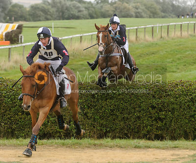 Jumping the fnal hedge - Belvoir Team Chase 2013, Garthorpe.