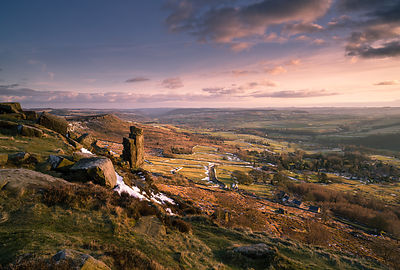 Peak District Photography | Curbar Edge spring equinox sunset