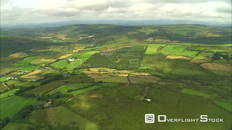 Flight over the Irish countryside