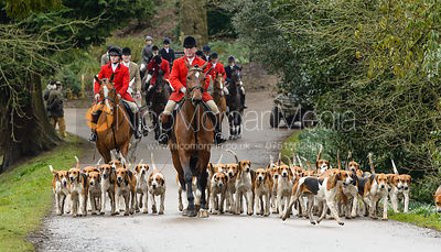The Belvoir Hunt at Belvoir Castle 10/3