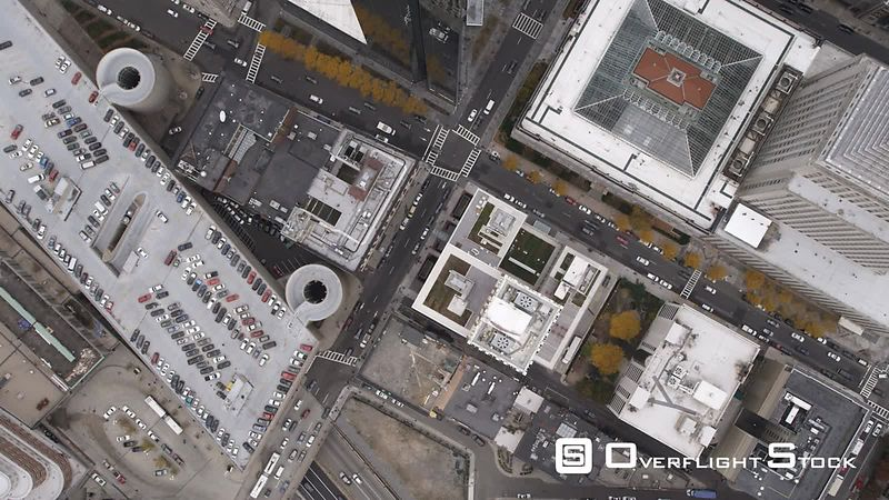 Flying Over Downtown Boston, Angled View.