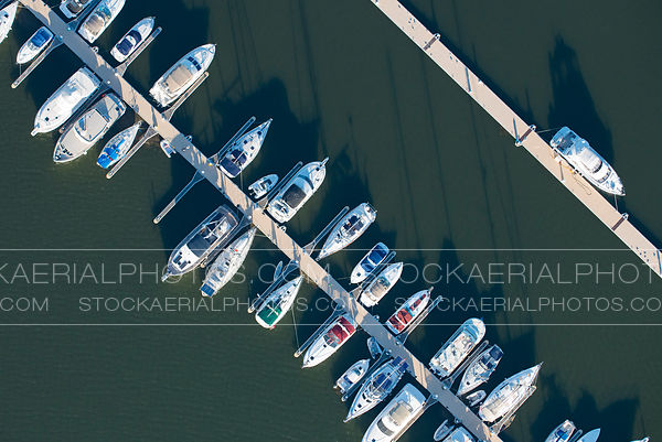Aerial View of a Marina