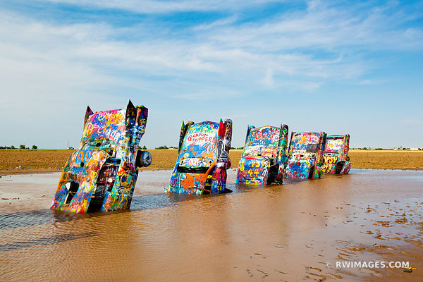 CADILLAC RANCH AMARILLO TEXAS ROUTE 66