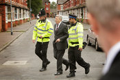 Former home Secretary Alan Johnson and police