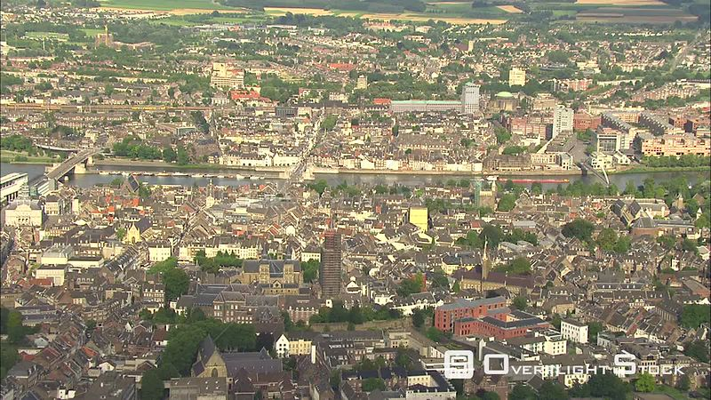 Flying over Maastricht, The Netherlands