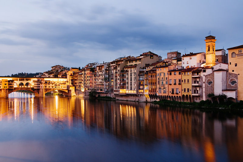 River Arno and the Ponte Vecchio, Florence, Italy