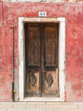 Old door, Burano, Italy