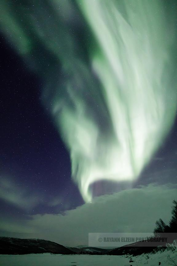 Clouds don't stop us from seeing the beautiful northern lights in Utsjoki