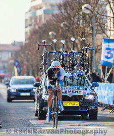 The Cyclist Clement Stef- Paris Nice 2013 Prologue in Houilles
