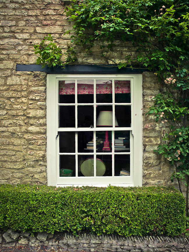 Stone cottage window