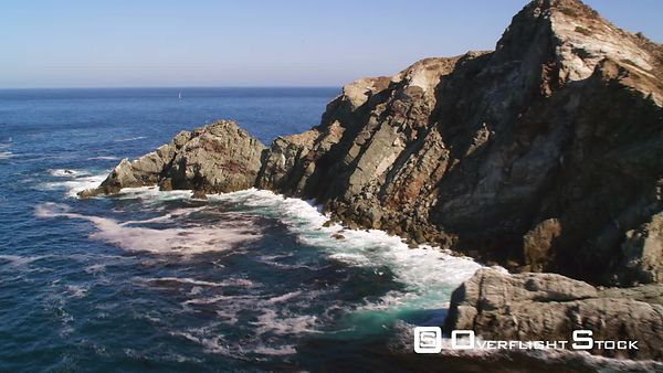 Over Jagged Rocks on Santa Catalina Coast.