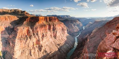 Panoramic sunset over Grand Canyon, USA