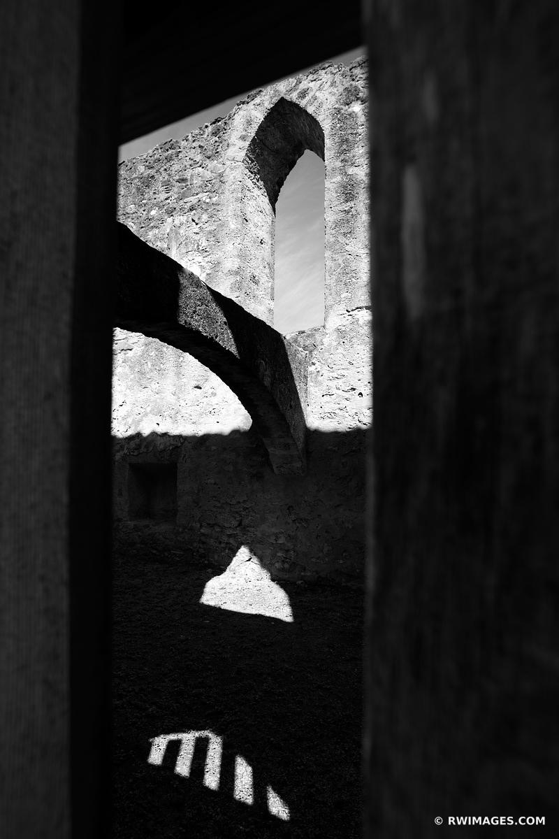MISSION SAN JOSE SAN ANTONIO TEXAS BLACK AND WHITE VERTICAL