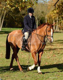 Doone Chatfeild-Roberts at the meet. The Belvoir Hunt at the Kennels 13/11