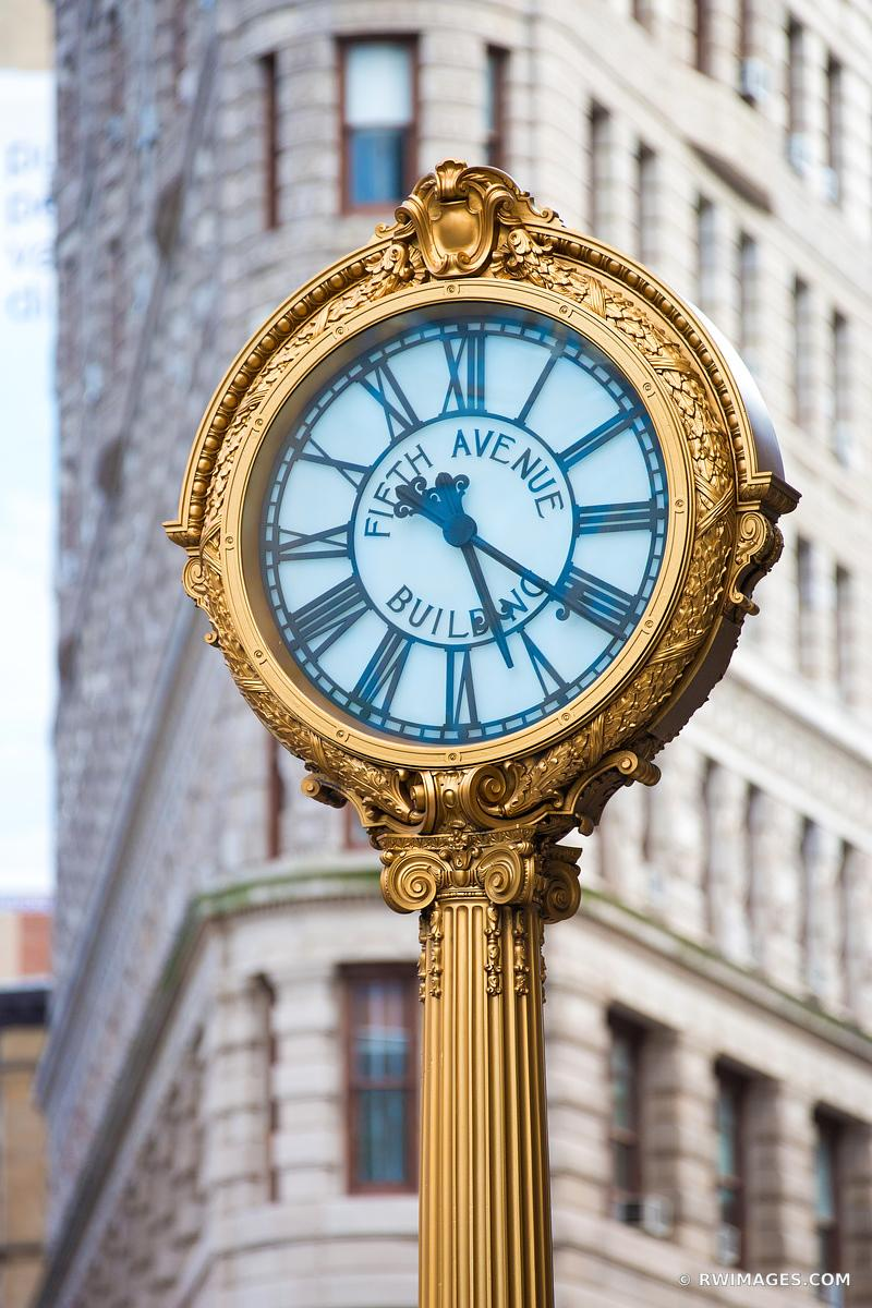 FIFTH AVENUE BUILDING GILDED STREET CLOCK NEW YORK CITY NEW YORK