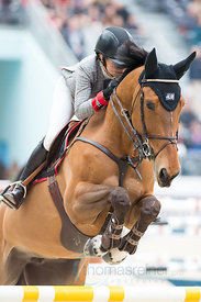 Paris, France, 17.3.2018, Sport, Reitsport, Saut Hermes - PRIX GL Events Bild zeigt Malin BARYARD-JOHNSSON(SWE) riding H&M Indiana...17/03/18, Paris, France, Sport, Equestrian sport Saut Hermes - PRIX GL Events. Image shows Malin BARYARD-JOHNSSON(SWE) riding H&M Indiana.