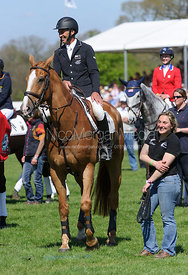 Andrew Nicholson - show jumping phase,  Mitsubishi Motors Badminton Horse Trials, 6th May 2013.