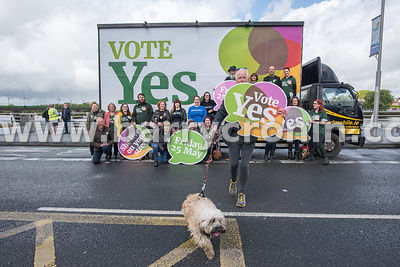 NO REPRO FEES - 11th May, 2018. Pictured at the 'Get Together For Yes' tour at Limerick city were Jim Quinlan (Ennis Road, Li...