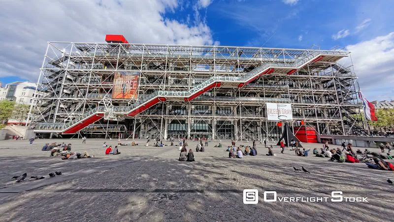 TimeLapse of The Centre Pompidou Museum Paris France