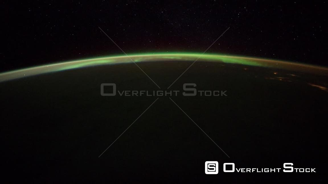 Time-Lapse from ISS over  Canada Exp30 Aurora Borealis 29 Jan 2012