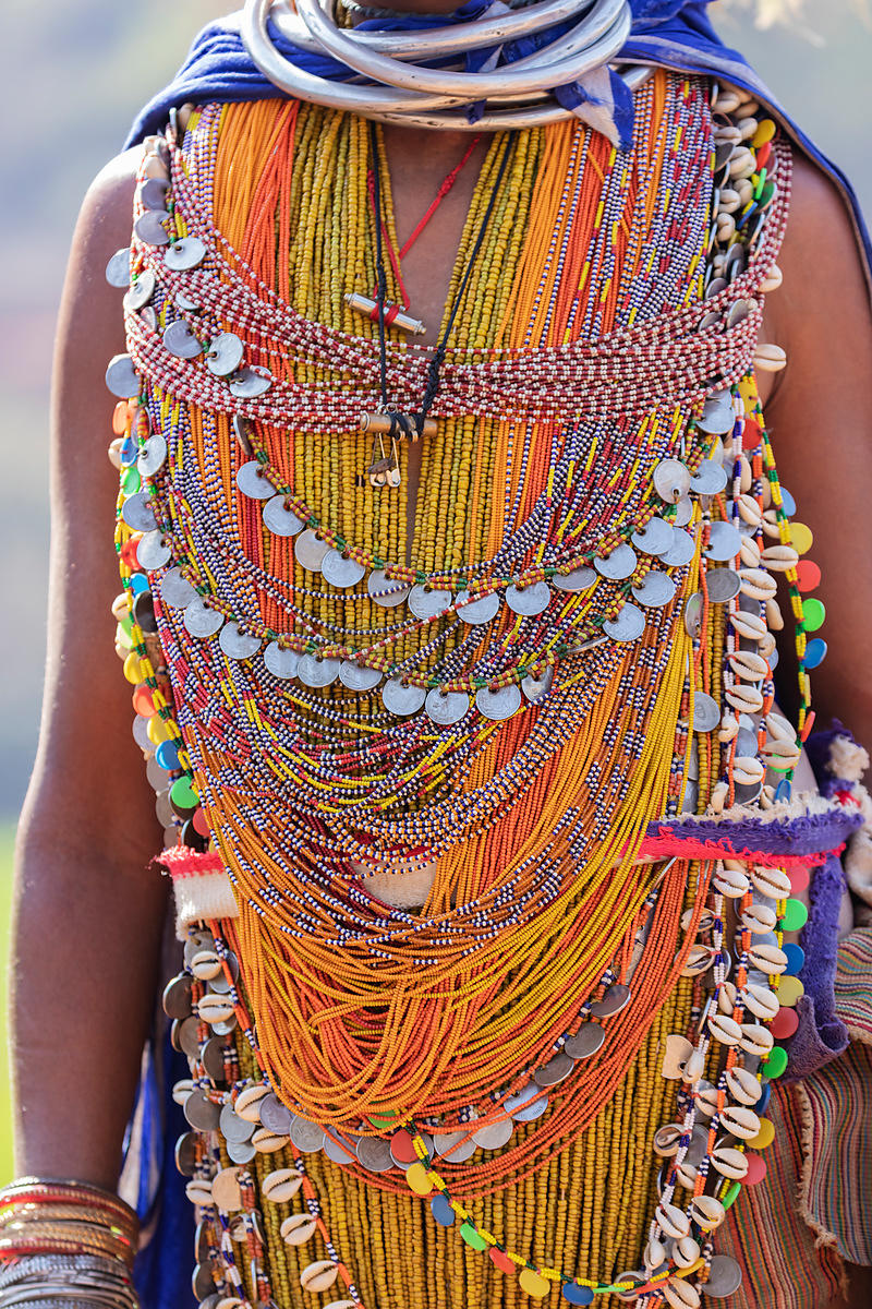 Beadwork Worn by a Woman from the Bonda Tribe
